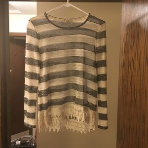 Sweater with lace bottom!